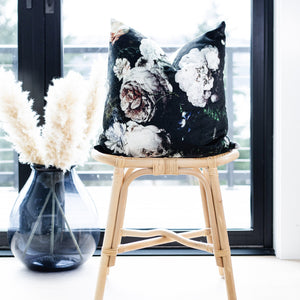 ISLA || Moody Velvet Floral Pillow Cover