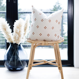 DOLLY|| Ivory & Rust Pillow Cover