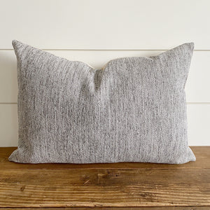 GRIFFIN || Textured Gray Pillow Cover