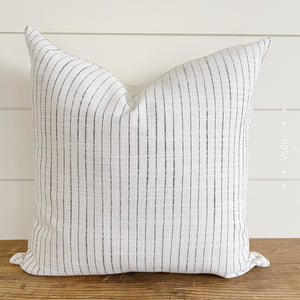 """Olivia"" Black Striped Pillow Cover"