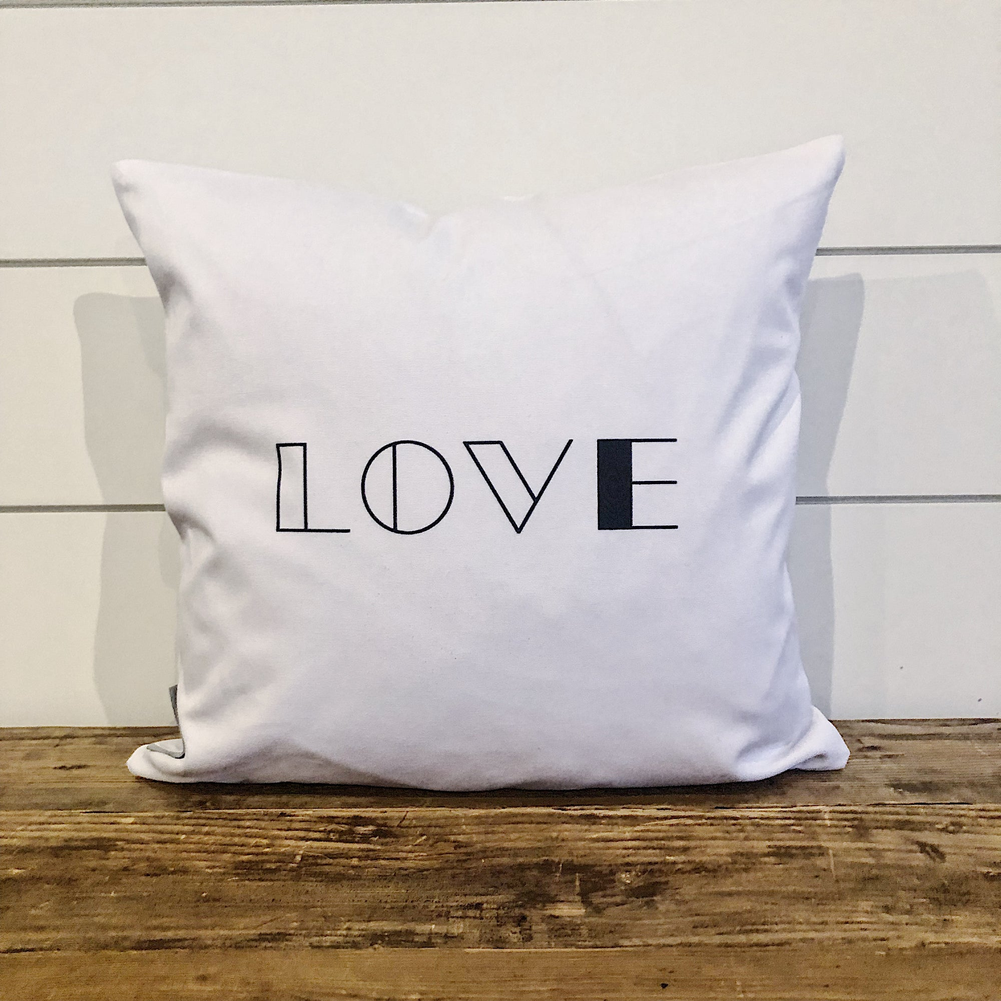 Modern Love Pillow Cover - Linen and Ivory