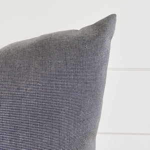 """William"" Charcoal Striped Indoor/Outdoor Pillow Cover"