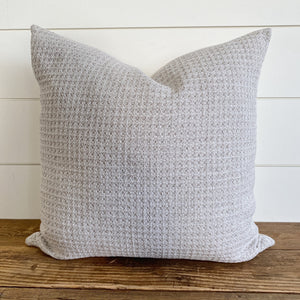 NADIA || Neutral Waffle Textured Pillow Cover