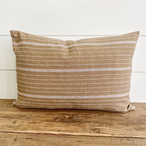 JAMESON || Mustard & White Striped Pillow Cover (FALL LAUNCH 2020)