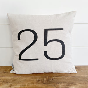 25 Pillow Cover - Linen and Ivory