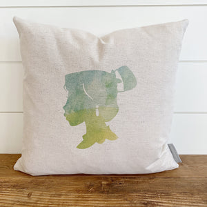 Princess Silhouette Mulan Inspired Pillow Cover