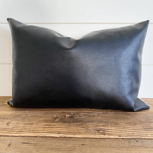 EBONY || Black Faux Leather Pillow Cover (WINTER LAUNCH 2020)