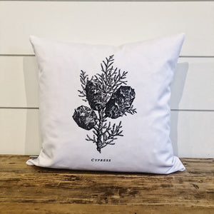 Cypress Sketch Pillow Cover - Linen and Ivory