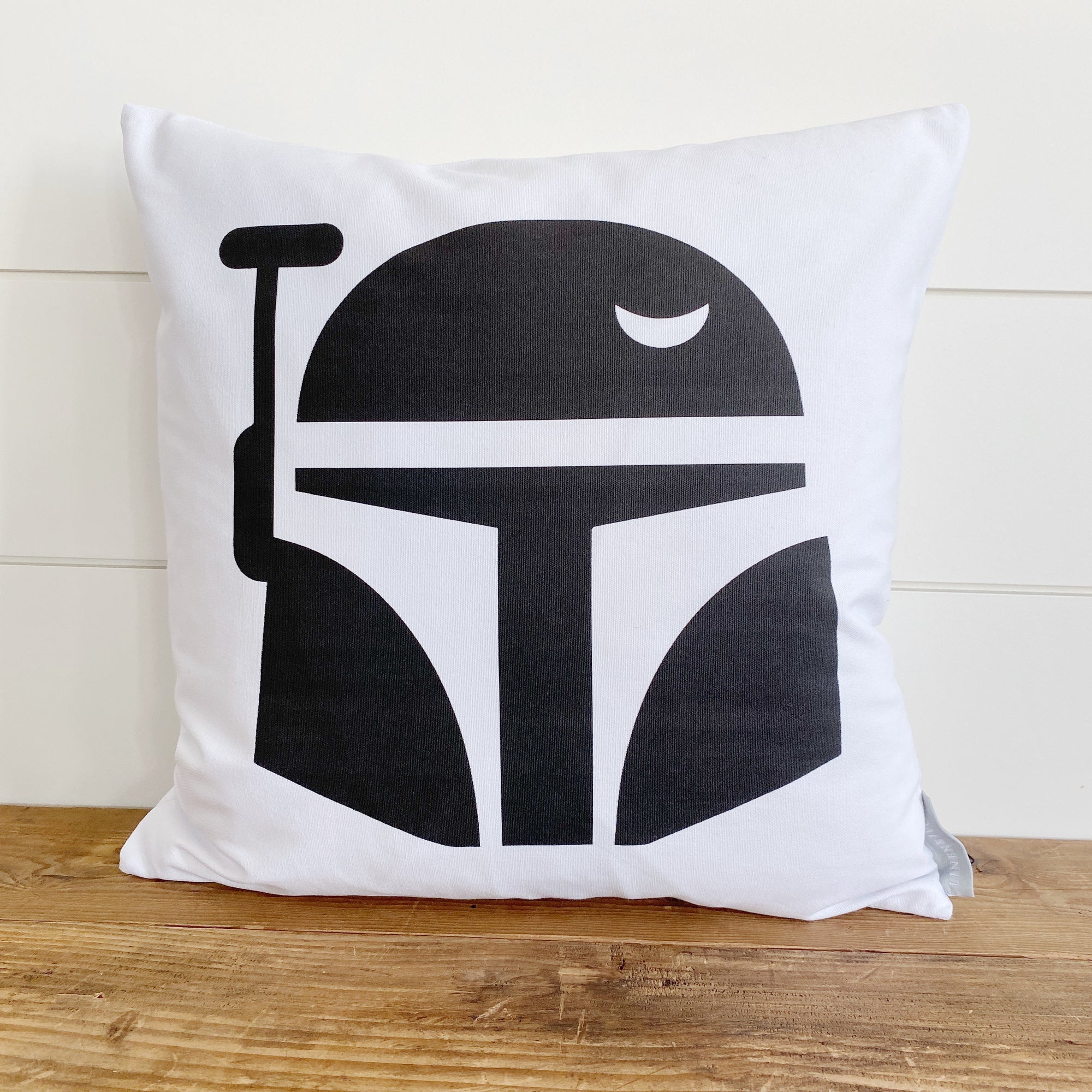Mandalorian Pillow Cover - Linen and Ivory