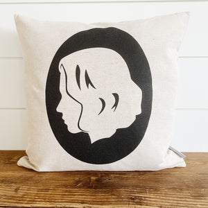 Black Widow Superhero Pillow Cover (Design 1) - Linen and Ivory