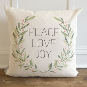 Peace, love, joy Wreath - Linen and Ivory