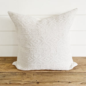 ASPEN|| Ivory Snowflake PIllow Cover (WINTER LAUNCH 2020)