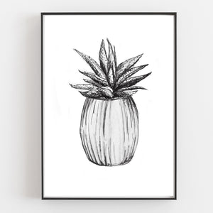 Cacti Art Prints (Set of 3) - Linen and Ivory
