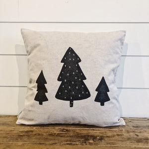 3 Trees Modern (Black) - Linen and Ivory
