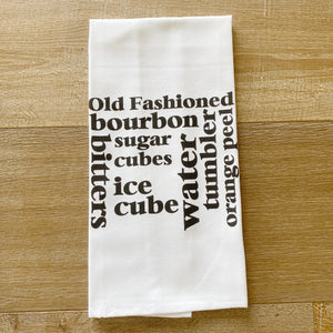 Old Fashioned Tea Towel - Linen and Ivory