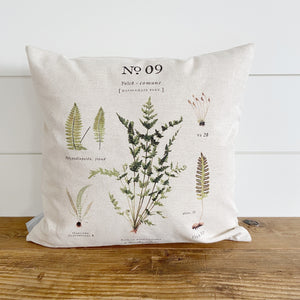 Maidenhair Fern Botanical Pillow Cover