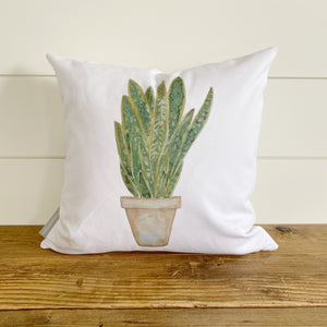 Watercolor Snake Plant Pillow Cover
