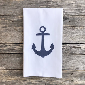 Anchor Tea Towel - Linen and Ivory