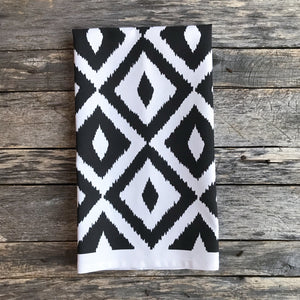 Aztec Tea Towel (Design 3) - Linen and Ivory