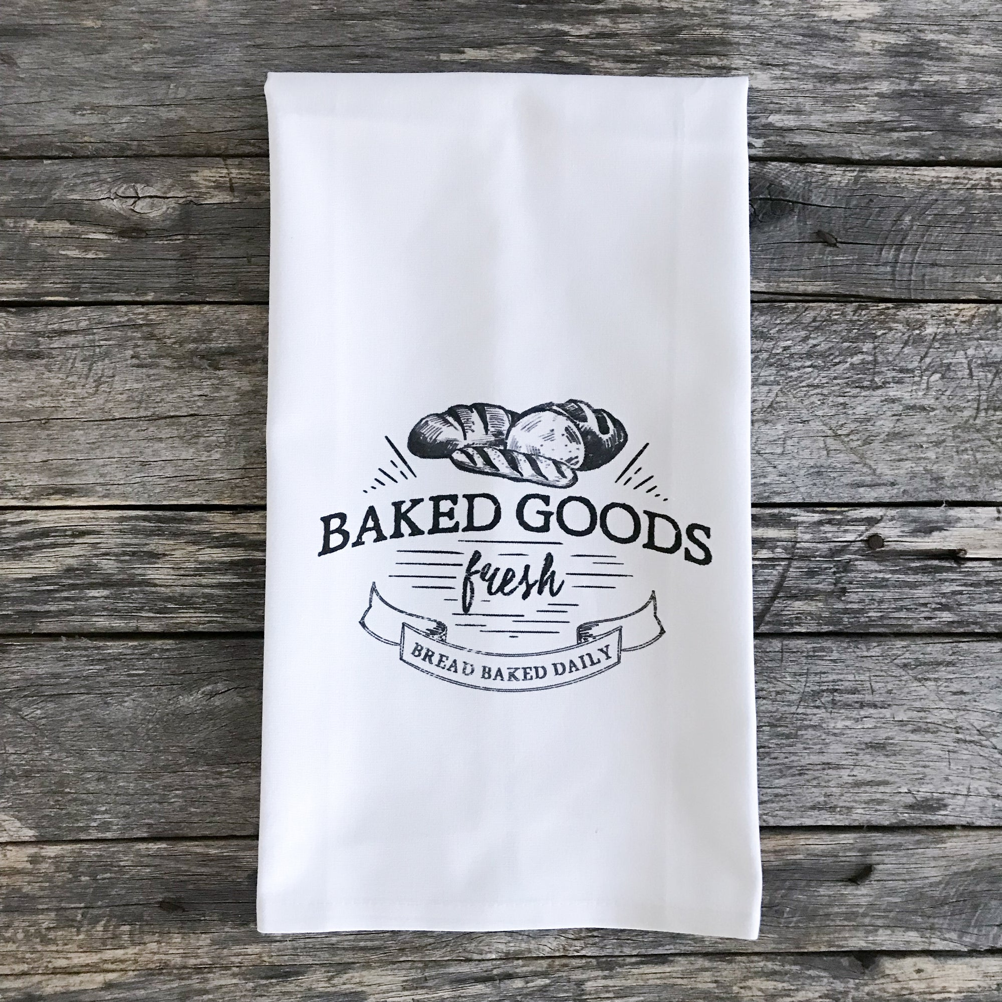 Baked Bread Tea Towel - Linen and Ivory