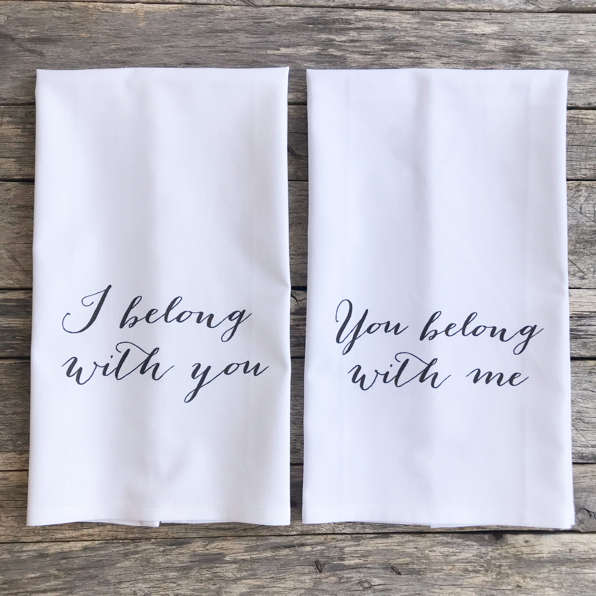 Belong With You Tea Towels (Set of 2) - Linen and Ivory
