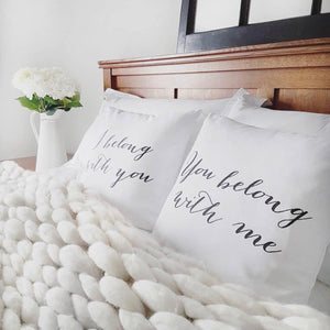Belong With You Pillow Cover (Set of 2) - Linen and Ivory