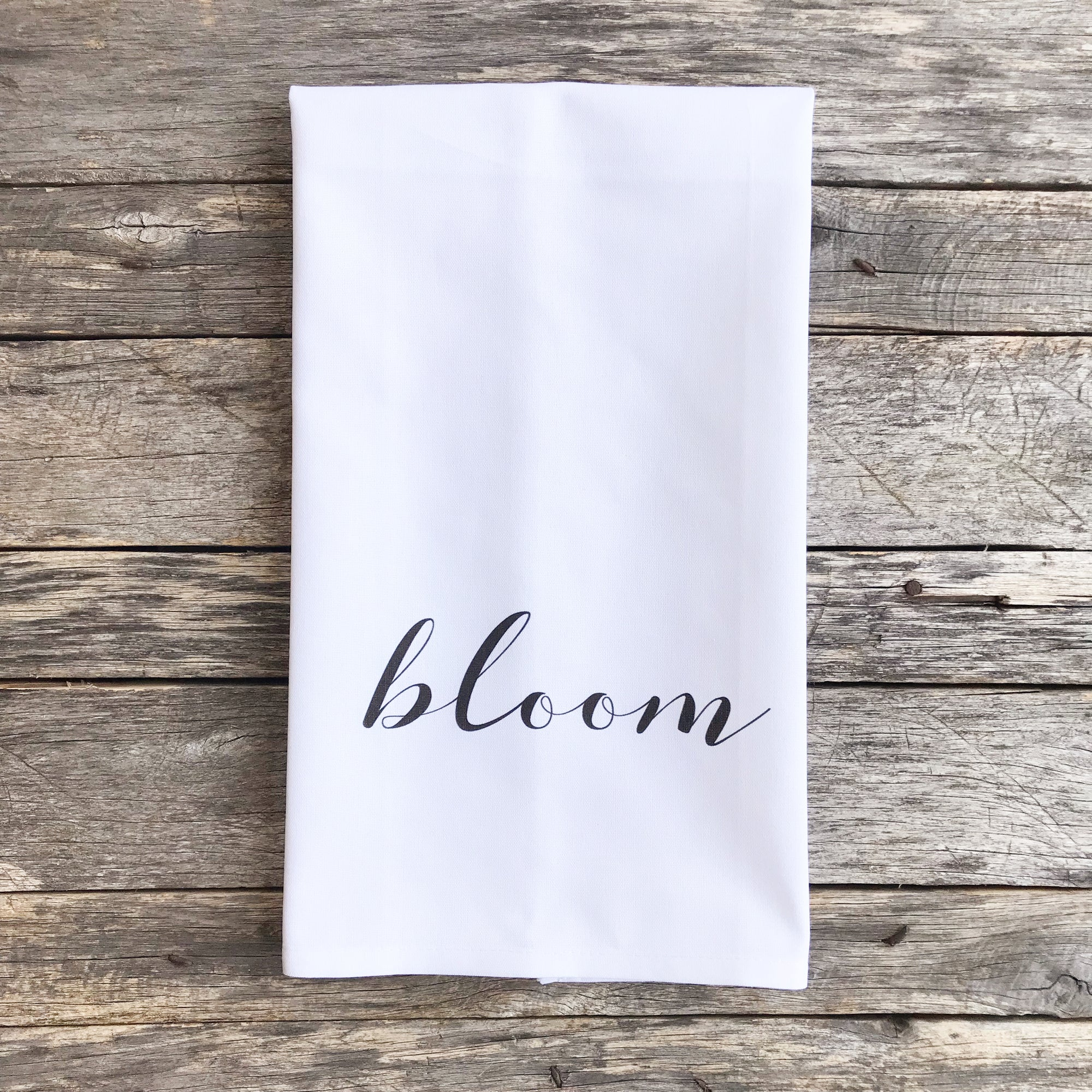 Bloom Tea Towel - Linen and Ivory