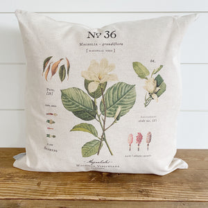 Magnolia Botanical Pillow Cover