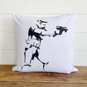 Stormtrooper Star Wars Pillow Cover (Design 4) - Linen and Ivory