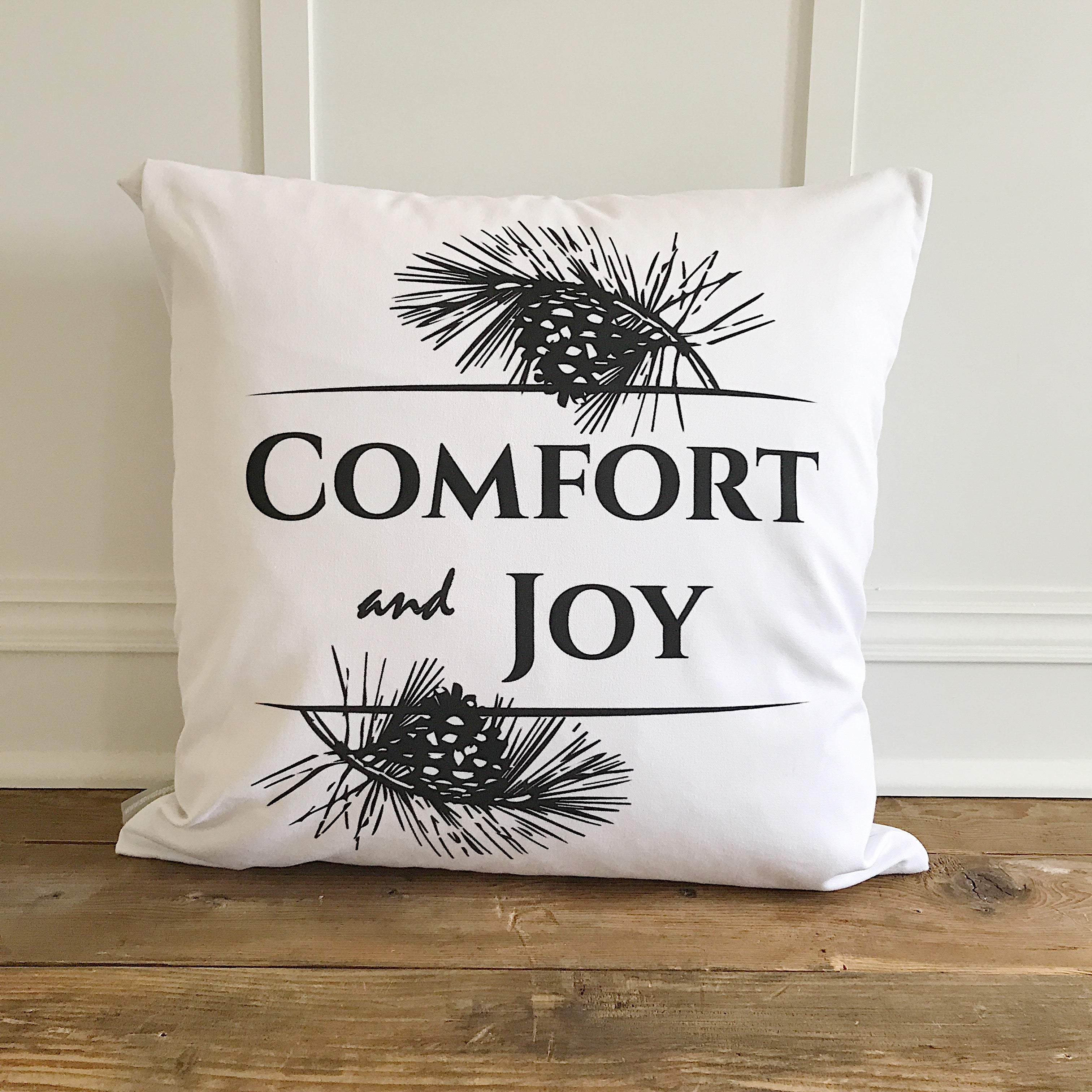 Comfort Joy Design 2 Pillow Cover Linen And Ivory
