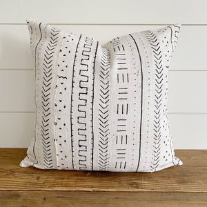 """Emelia"" Authentic African Mud cloth Pillow Cover"