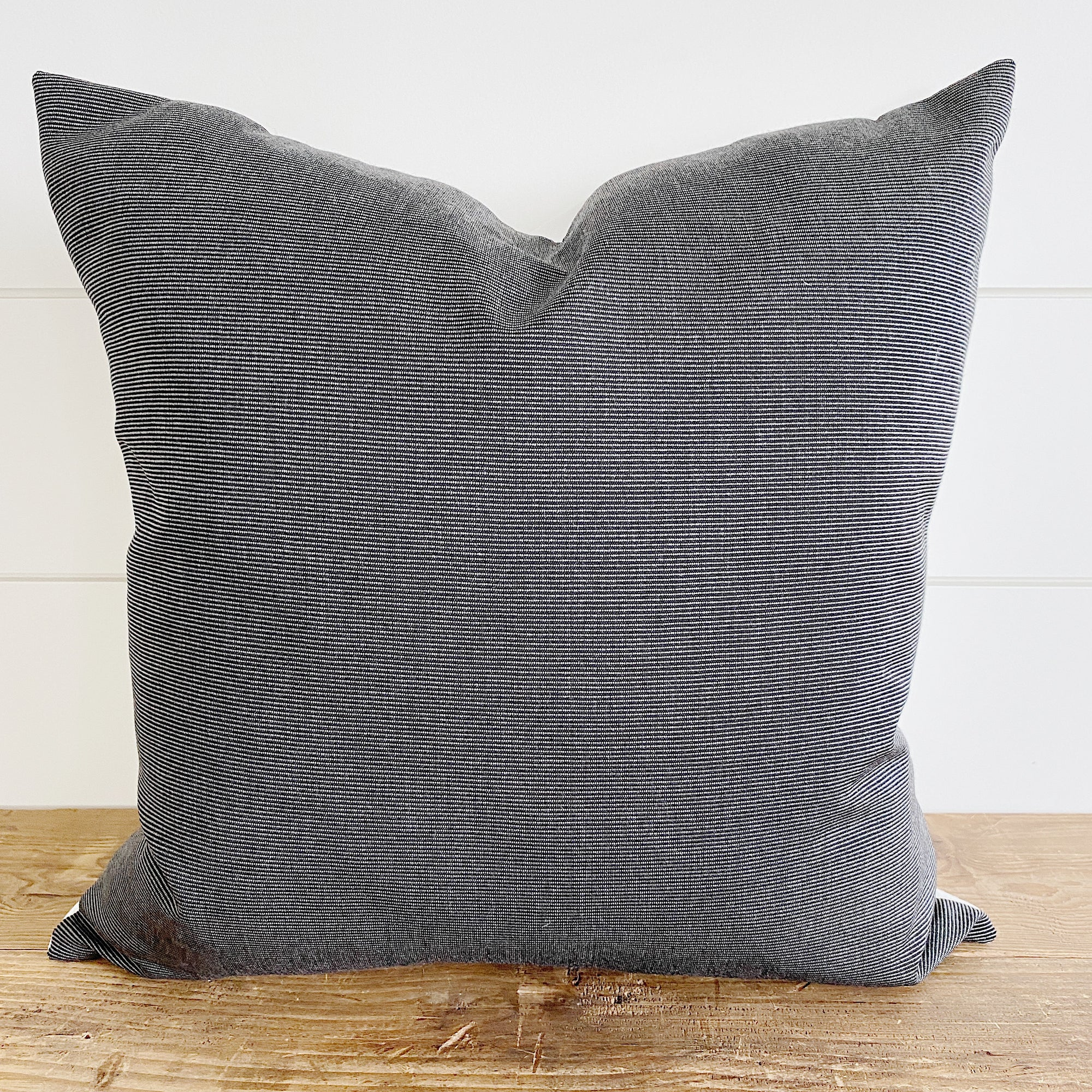 WILLIAM || Charcoal Striped Indoor/Outdoor Pillow Cover