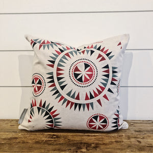 Nordic Christmas Design Pillow Cover - Linen and Ivory