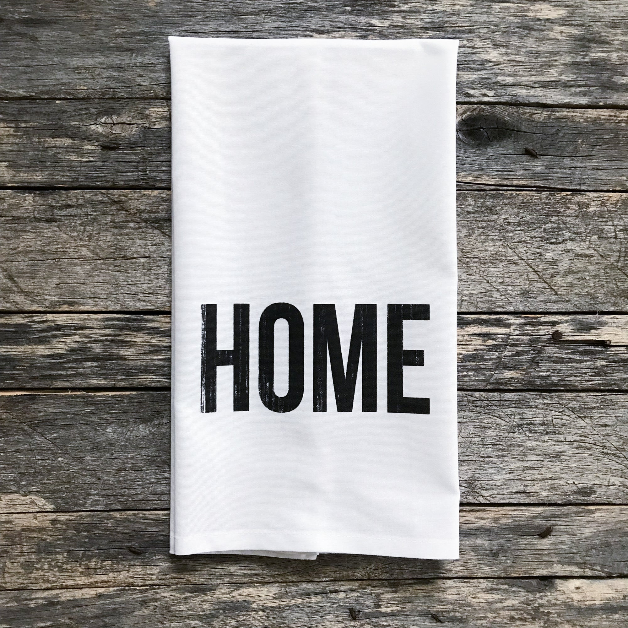 HOME Tea Towel - Linen and Ivory