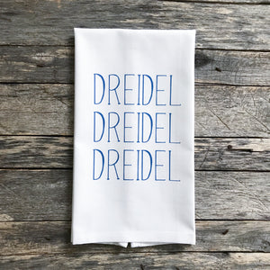 Dreidel Dreidel Dreidel Tea Towel - Linen and Ivory