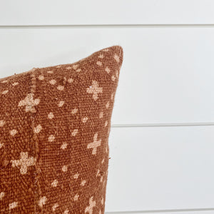 """Lizzie"" Rust Cross Pattern Mud Cloth (FALL LAUNCH 2020)"