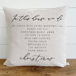 In This House Pillow Cover (Christmas Edition) - Linen and Ivory