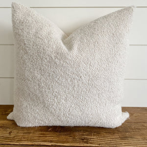HALLIE || Natural Bouclé Pillow Cover