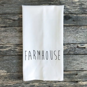 FARMHOUSE Tea Towel - Linen and Ivory