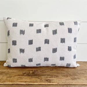 ELIE || Navy & White Ikat Pillow Cover