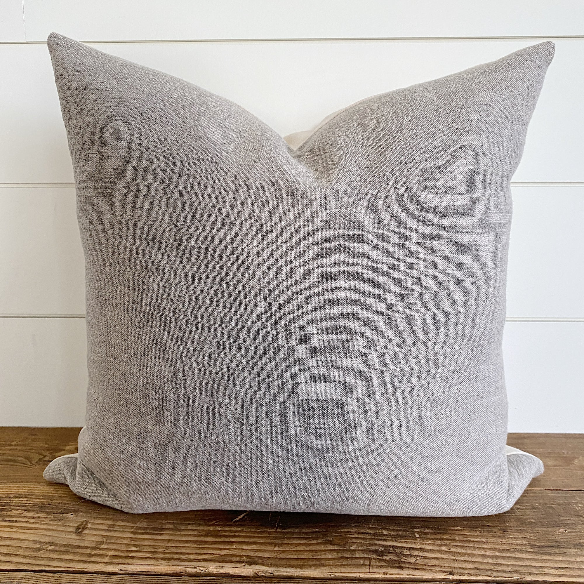 MACY || Taupe Linen Plain Pillow Cover
