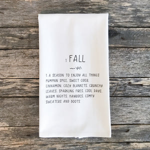 Fall Definition Tea Towel - Linen and Ivory