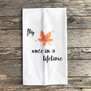 Fly Once Tea Towel - Linen and Ivory