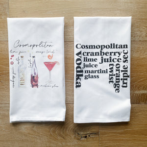 Cosmopolitan Watercolor Tea Towel