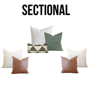 "The ""Harlow"" Sectional Collection - Linen and Ivory"