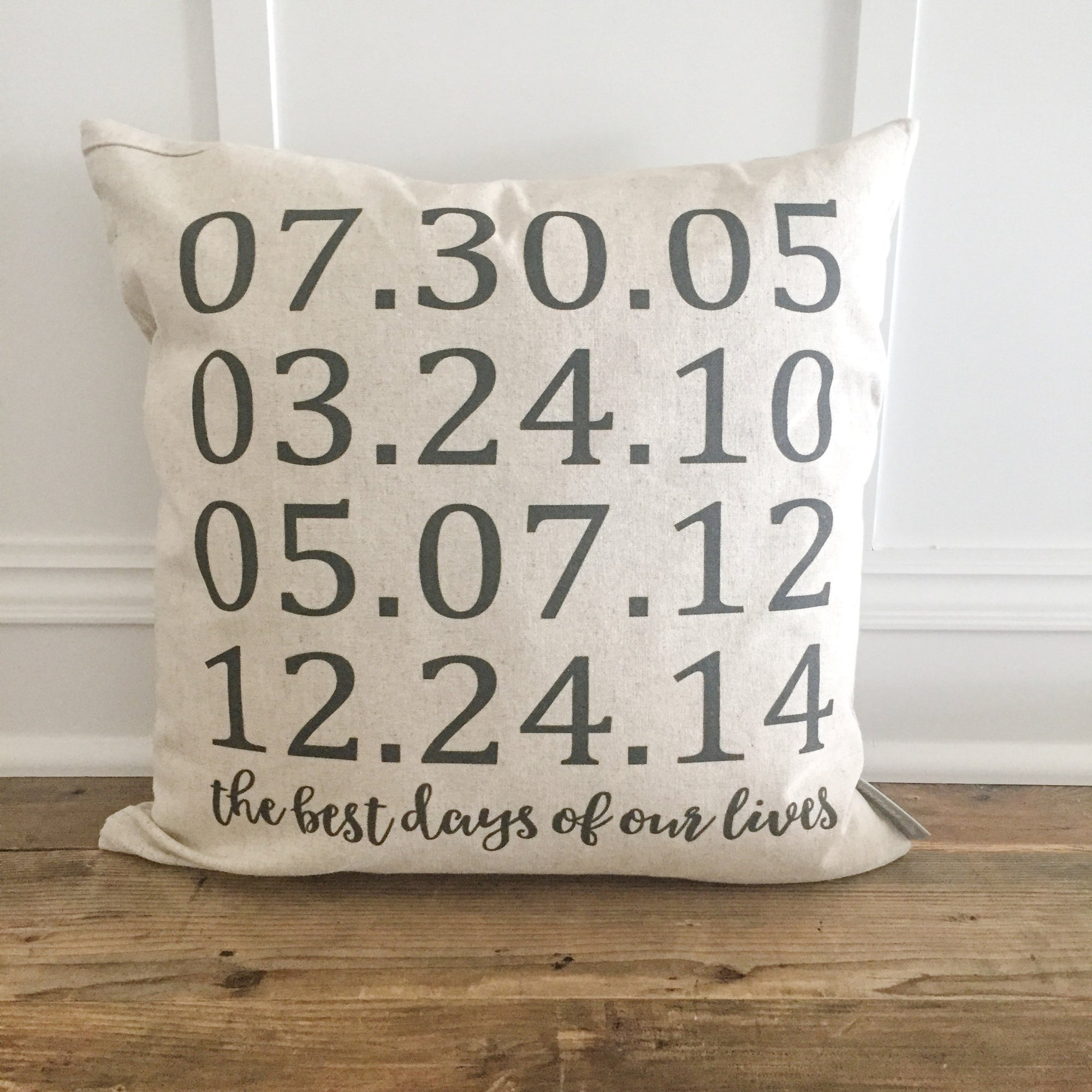 Best Days Pillow Cover - Linen and Ivory