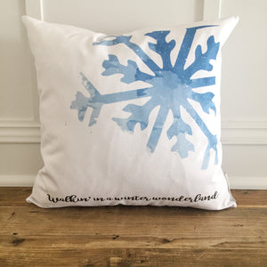 Winter Wonderland Pillow Cover - Linen and Ivory