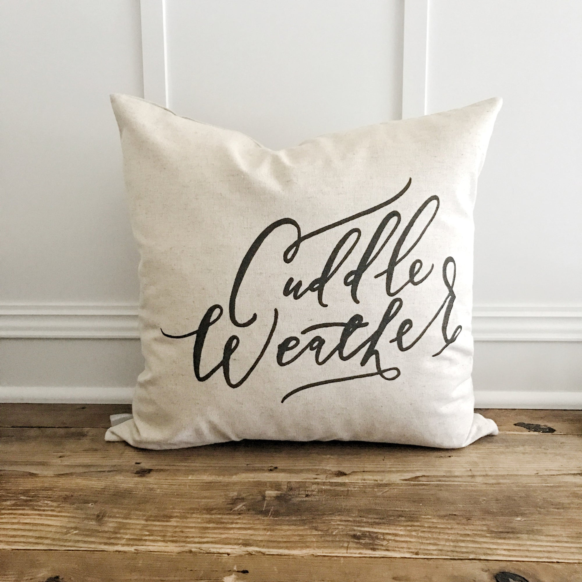 Cuddle Weather Pillow Cover - Linen and Ivory