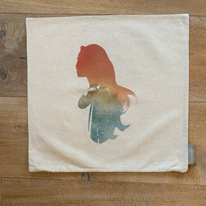 SALE- Double Sided Pocahontas Princess Pillow Cover