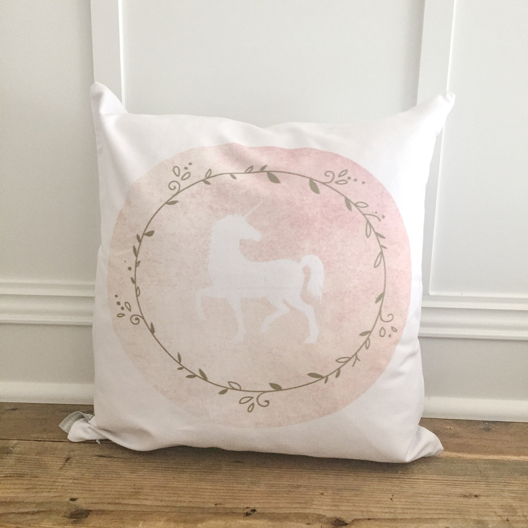 Unicorn Silhouette Design 2 Pillow Cover - Linen and Ivory